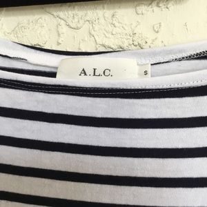 A.L.C. Dresses - A.L.C. Midnight White Stevens Stripe Casual Dress